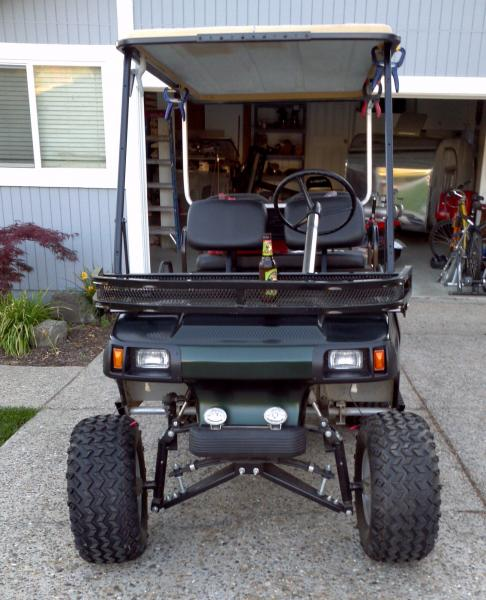 Ted's 1989 Club Car DS - the evolution of a sporting clays cart on golf cart spreader, golf cart sun shade, street glow led underglow kit, dirt bike headlight kit, golf cart headlamp, golf cart hood, golf cart turn signal wiring, golf cart heater, auto headlight kit, golf cart wheel covers, golf cart voltage reducer wiring, golf cart hub, golf cart dump cart, golf cart lights, golf cart handle, electric go kart kit, golf cart seat covers outlet, golf cart headlights tail ligts,